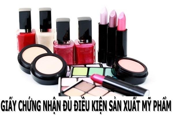 Cấp Giấy chứng nhận đủ điều kiện sản xuất mỹ phẩm tại Thái Nguyên